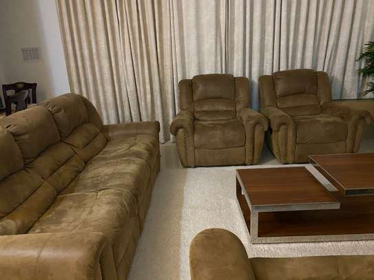 7 seater recliner couch/ sofa image 1