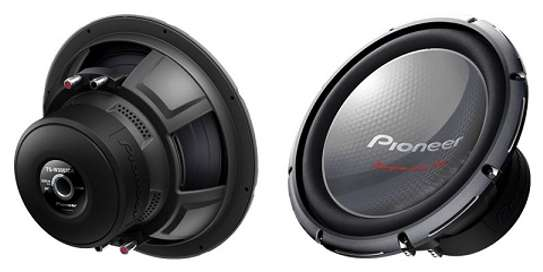 """Pioneer TS-W3003D4 12"""" Champion Series PRO Subwoofer with Dual 4 Ω Voice Coils and 2,000 Watts Max Power (600 Watts Nominal)"""