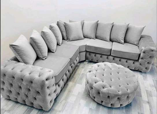Five seater corner sofas/Five seater curved sofa/Chesterfield sofas/Unique sofas/Sofas and sectionals for sale in Nairobi Kenya/Quality furniture designs/Latest living room sofa designs/Sofas and poufs kenya image 1