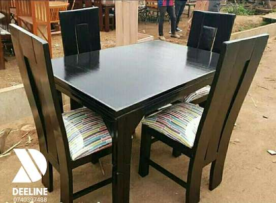 5 Piece Mahogany Framed Dining Table Sets. image 3