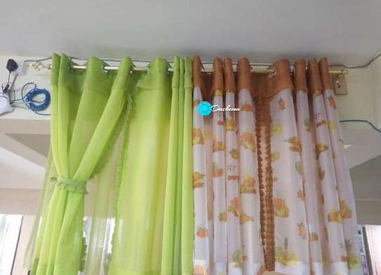 customized sheer kitchen curtains image 1