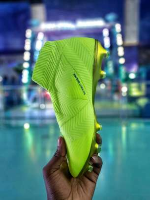 The Adidas Nemeziz 18+ Laceless Soccer Cleats image 4