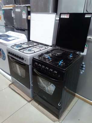 Armco standing cooker 3gas + 1 electric 60cm x 60 cm color Black, image 1