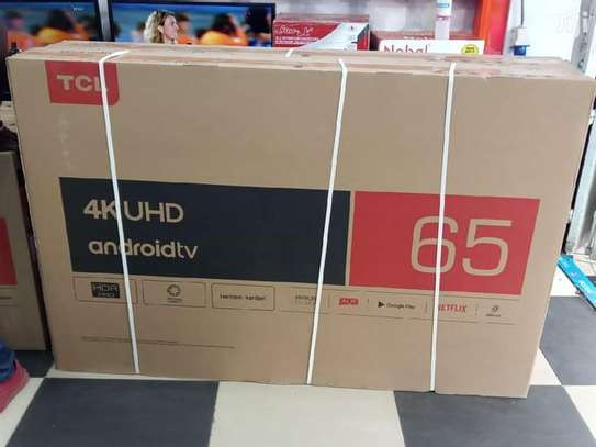 65 TCL smart Android UHD 4K television image 1
