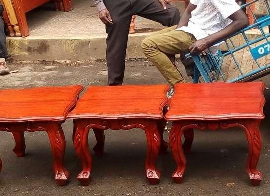 2Foot stools(Solid Mahogany) image 2