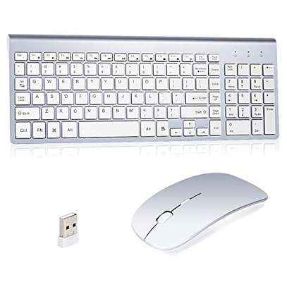 Rechargeable Wireless Mouse -SILVERY image 1