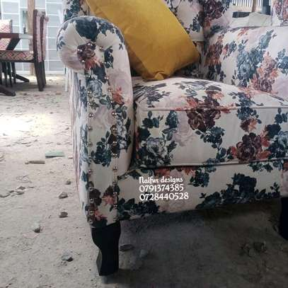 One seater sofa/king size chair/floral chairs/modern single seater sofas image 3