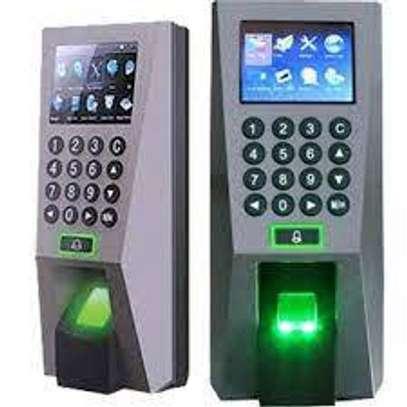 f18 zkteco fingerprint biometric scanner and time attendance image 1