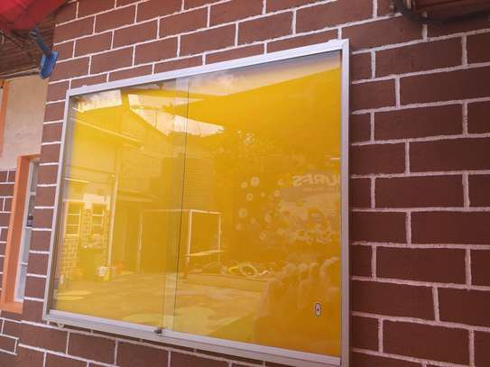 Glass sliding noticeboards image 1