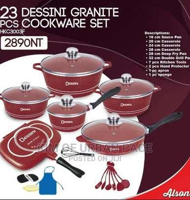 23pieces Dessini Coloured Granite Cookware Set image 1