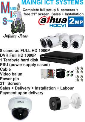8 CCTV cameras 1080P complete  Setup  Full HD Sales plus Installation image 1