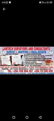 Land survey, estate agency, title deed processing, mutation survey image 1