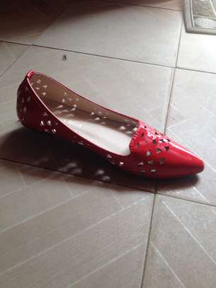 Red Perforated Doll Shoes