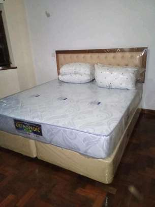 King Size (6 by 6) Complete Bed set, with 10inch Spring Mattress.