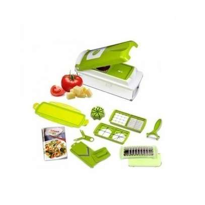 Nicer & Dicer - Multicolored Multi-function Vegetable Chopper,Cutter,Grater,