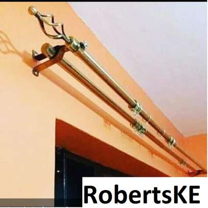 durable curtain rods image 1