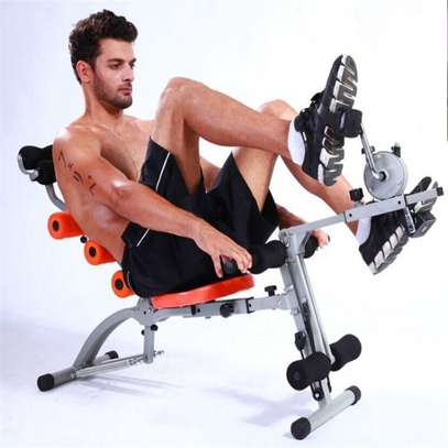 Six Pack Care Abs Exercise Bench with bike pedals