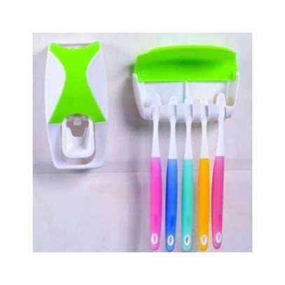 toothbrush holder and toothpaste dispenser image 2