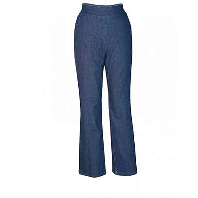 Blue Womens Pull On Pants image 1
