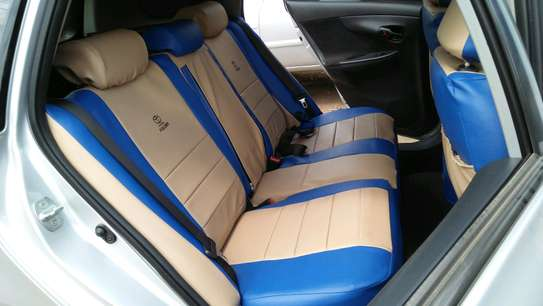 Double stitches car seat covers