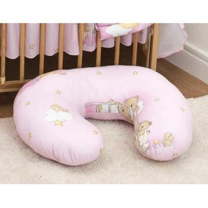 Breastfeeding Pillow- Pink theme, Print may vary image 1