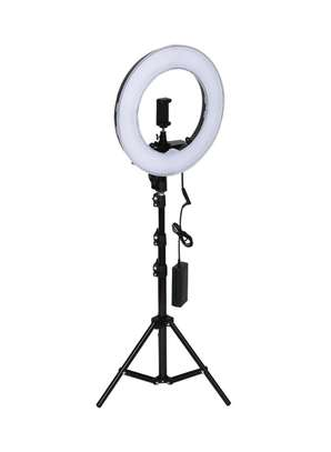 12inch Ring Light with Telescopic Tripod Stand Bluetooth Remote for Live Broadcast Video Shooting image 1