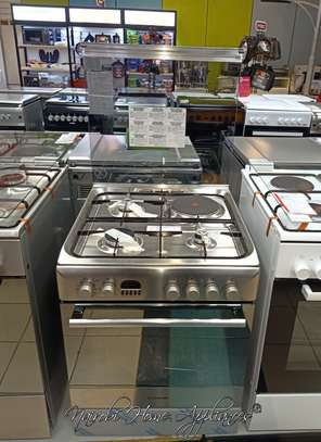 Ariston CX61 S P6 XT (S)/A6MMC6AF (X) I 3 Gas + 1 Electric Cooker - Stainless Steel image 1
