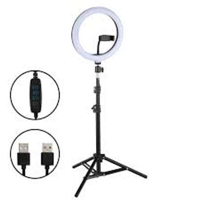 12inch LED Ring Light Photography Selfie Ring Lighting with Tripod Stand for Smartphone Youtube Makeup Video Studio Ring Lamp image 1