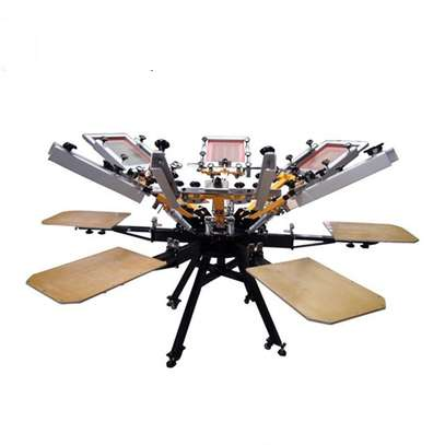6 color 6 Station Screen Printing Machine with Micro Registration image 1