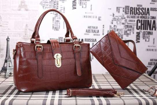 2 Piece Leather Handbag Sets. image 1
