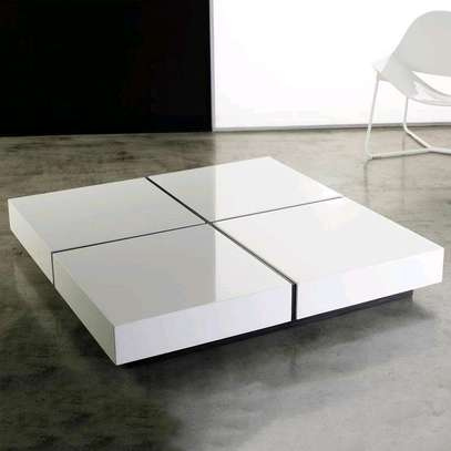 Modern coffee table/white coffee table image 1