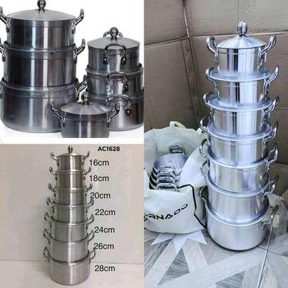 14pcs Aluminium Cooking Pot or Sufuria Set image 2