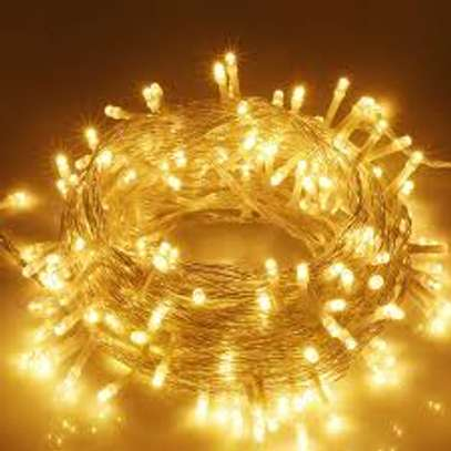 100 LED Fairy String Curtain Night Light for Indoor and Outdoor image 1