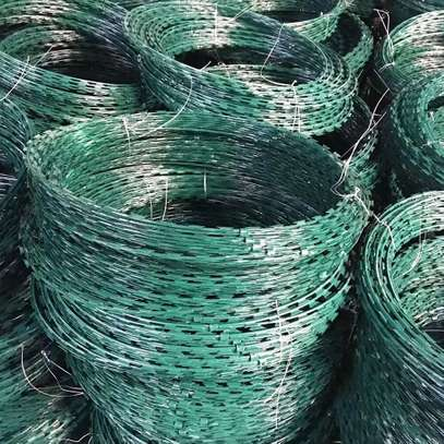 Coated PVC Green razor barbed wire