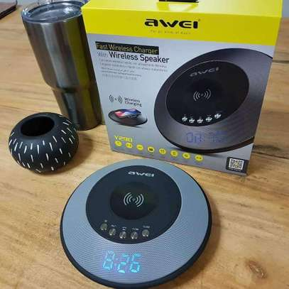 AWEI Y290 Bluetooth Speaker with Wireless Charger Mini Portable Speakers Waterproof Sound Box image 2