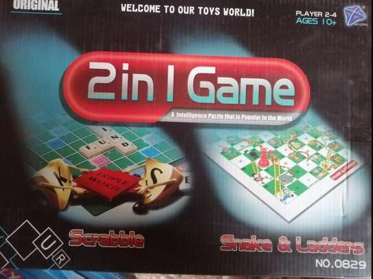 Scrabble & Snakes And Ladders Family Board Games image 2