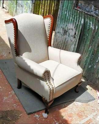 Cream King chair image 1
