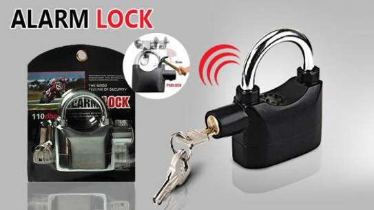 ALARM PADLOCK for DOOR/Motor/Bike/Car PAD LOCK 110db Anti-Theft Security Alarm 12pcs Battery Included