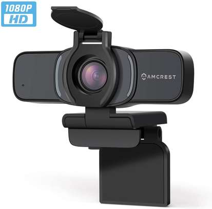 Amcrest 1080P Webcam with Microphone & Privacy Cover, Web Cam image 1