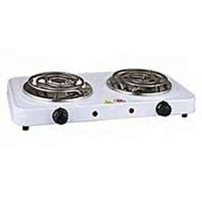 electric hot plate double burner image 1