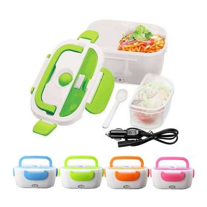 Generic Electric Heated Lunch Box Food Warmer With Partitions image 1