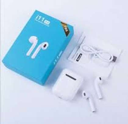 TWS-11 True Wireless HiFi bluetooth V5.0 Touch Control Earphone Bass DSP Noise Reduction Earbuds For Huawei image 1