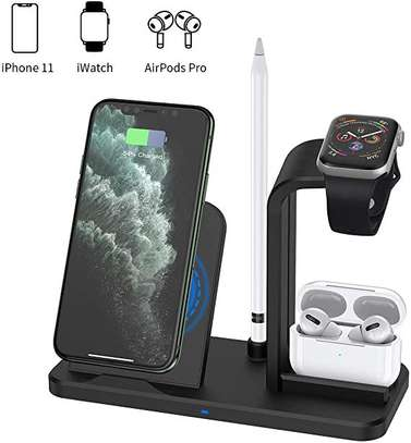 4 in 1 Qi Wireless Charger Charging Holder Stand for Apple iPhones,airpods,iPencil and iwatches 1,2,3,4,5 image 4
