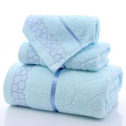3pcs Towels cotton/ polyester image 1