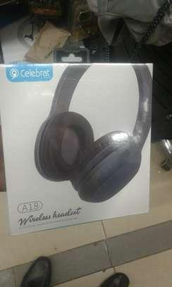 Celebrate A18 Deep Bass Wireless Headset Bluetooth Headphone image 3