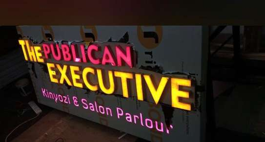 We do quality 3D signage, Light box signage, corporate logos.. contact us for pricing image 1