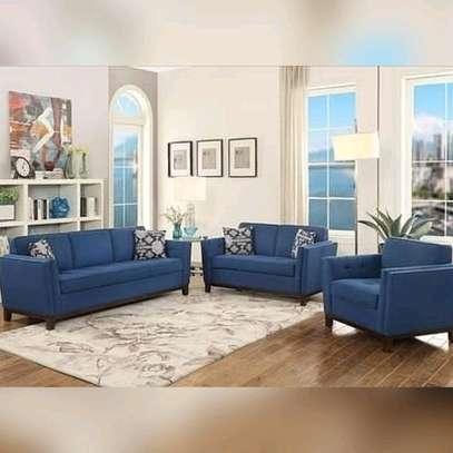 Blue 6seater sofa set image 1