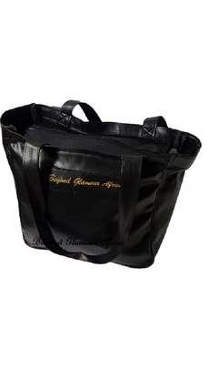 Ladies Black Leather Handbag image 1