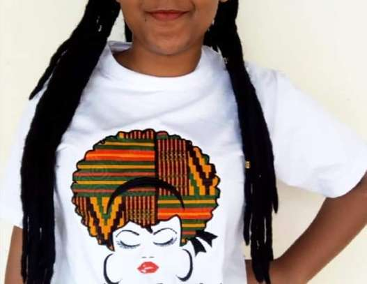 Customized Ankara Afro-Lady T-Shirt