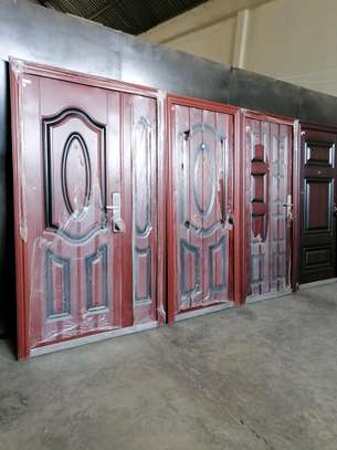 Imported Double and single security steel doors image 5